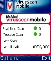 VirusScan Mobile 1.11 & Virus Definition 1.1.3