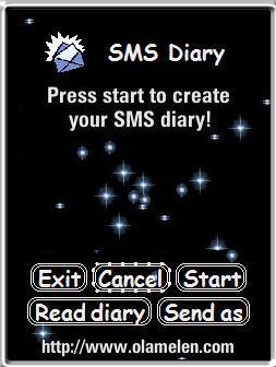 SMS Diary 1.30 - Symbian OS 6/7/8