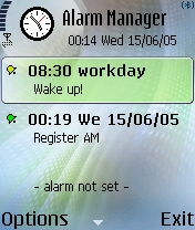 Alarm Manager 1.5.6 - Symbian OS 7/8