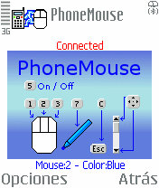 PhoneMouse 0.50 - Symbian OS 6/7/8