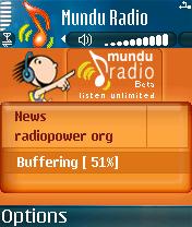 MunduRadio 1.0 - Symbian OS 6/7/8