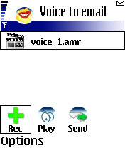 Berggi Voice to Email 1.0 - Symbian OS 6/7/8