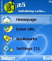 JB5 Mobile Browser 1.35 Beta - Symbian OS 8.1