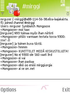 mIRGGI 0.03b - Symbian OS 9.1