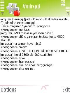 mIRGGI 0.45 - Symbian OS 9.1