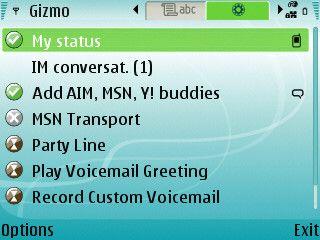 Gizmo 1.08.82 - Symbian OS 6789.x