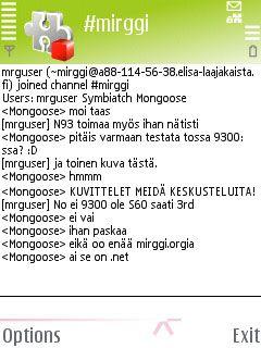 mIRGGI 0.5 - Symbian OS 9.1