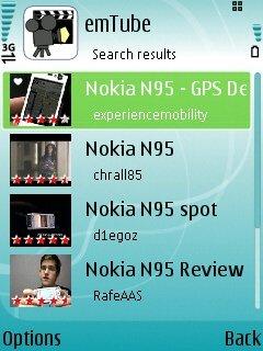 EmTube 1.0 - Symbian OS 9.1