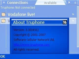 Truphone 3.3.491 - Symbian OS 9.1
