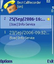 Best CallRecorder 1.0 - Symbian OS 9.1