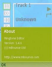 Ringtone Editor 1.4 - Symbian OS 9.1