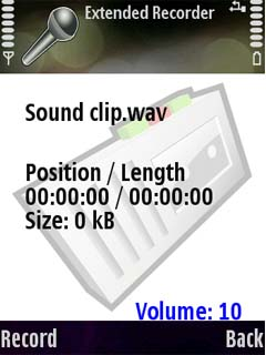Psiloc Extended Recorder 2.58 - Symbian OS 9.1