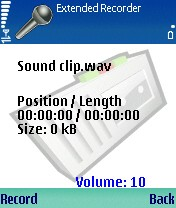 Psiloc Extended Recorder 1.12 - Symbian OS 9.1