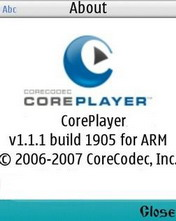 CorePlayer 1.1.1 Beta - Symbian OS 9.1