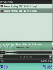 VITO AudioNotes 1.25.2 - Symbian OS 9.1