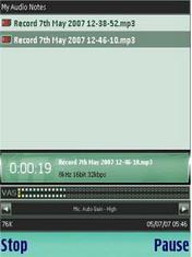 VITO AudioNotes 1.31 - Symbian OS 9.1