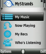 MyStrands Social Player 2.90 - Symbian OS 9.1