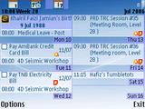 Aqua Calendar - Symbian OS 9.1