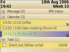 Aqua Calendar 5.11 - Symbian OS 9.1