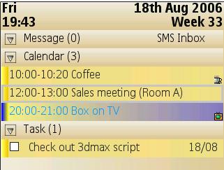 PocketTorch AquaCalendar 5.15 - Symbian OS 9.1