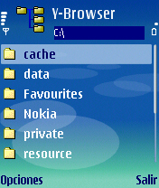 Y-Browser - Symbian OS 9.1
