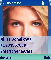 Best Full Screen Caller 1.01 - Symbian OS 9.1