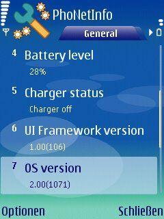PhoNetInfo 1.2 - Symbian OS 9.1