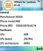 FutureMark SPMark - Symbian OS 9.1