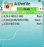 ActiveFile 1.17 - Symbian OS 9.1